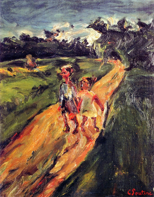 Chaim Soutine - Two Children on a Road .