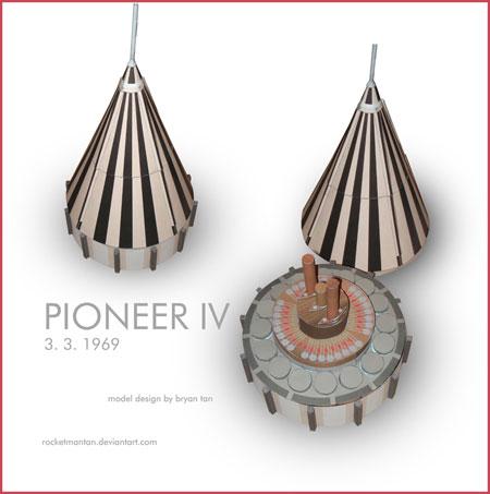 Pioneer 4 Papercraft
