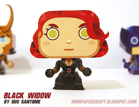 Mini Black Widow Paper Toy