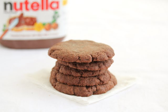 photo of a stack of nutella cookies