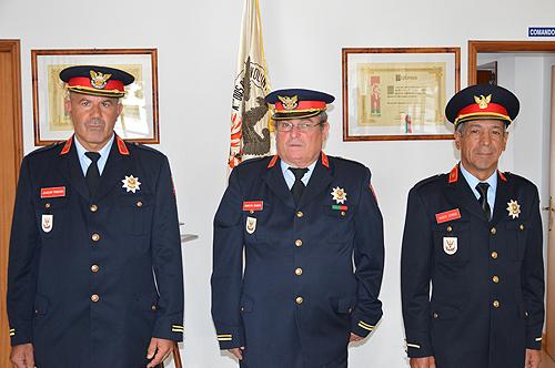 Chefe Joaquim Pinheiro, Chefe Ernesto Soares e Sub Chefe Vasco Conde