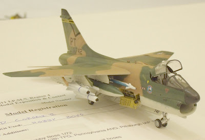 A-7D Corsair II model - Pennsylvania Air National Guard