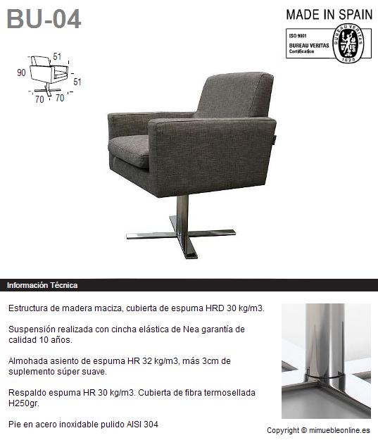 Butaca bu 04 for Butaca diseno online