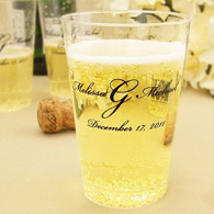 Personalized clear plastic wedding tumblers