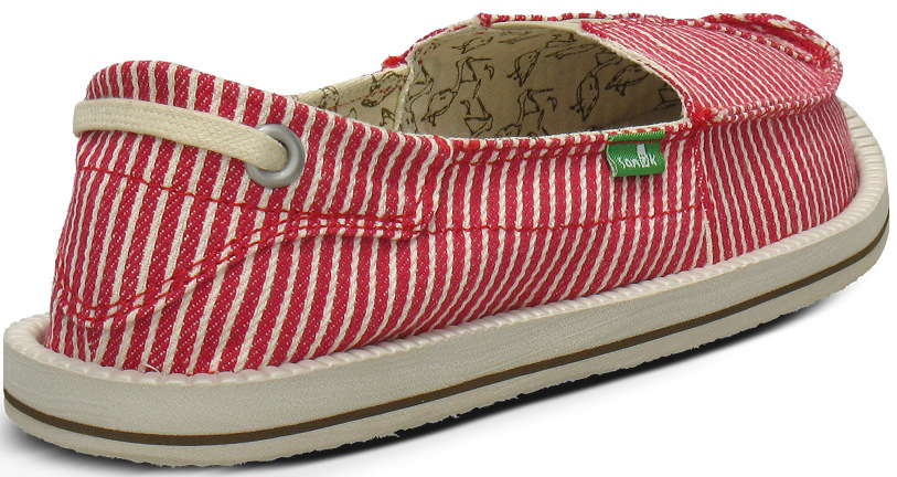 *Sanuk 春風直條紋懶人鞋:幸福的送子鳥與女孩們打招呼喔! 7