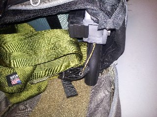 ea322b49e2f Front end of bag opened with pass through for easy access to rifle