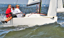 J/70 one-design speedster- sailing off Annapolis, MD