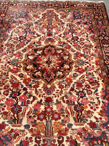 k niglicher perser teppich rosen bidjar 212x144 cm rug tapis tappeto iran ebay. Black Bedroom Furniture Sets. Home Design Ideas