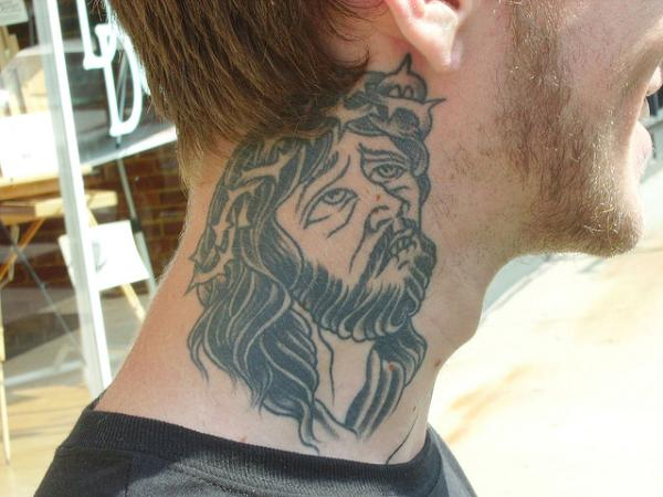 NECK TATTOO DESIGN FOR MEN