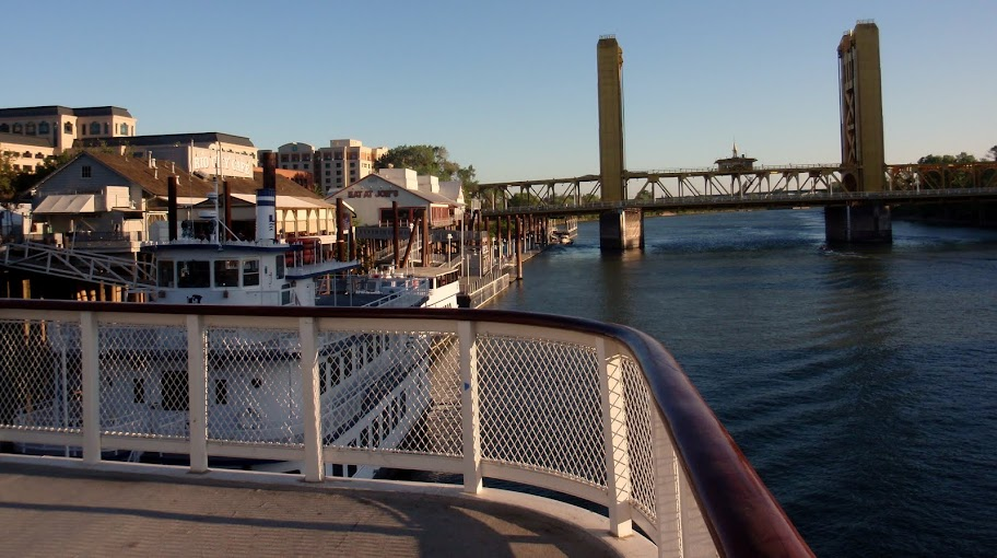Delta King - Deck View of the Tower Bridge and Old Sac