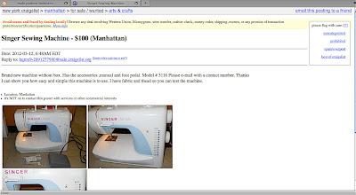 male pattern boldness: The Craigslist Sewing Machine Score!