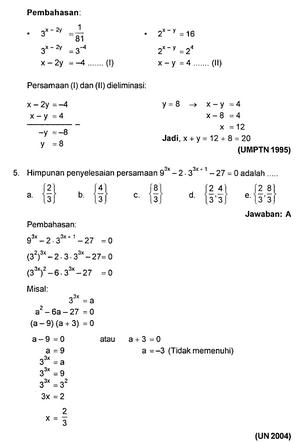 Contoh Soal Eksponensial Dan Pembahasannya Kumpulan Soal Pelajaran 3