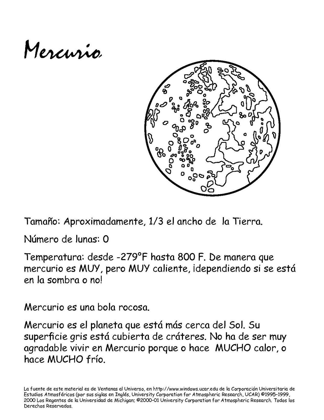 1. Mercurio - El Sol y sus amigos