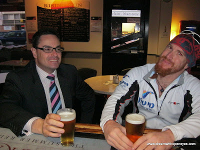a victory beer with Shane