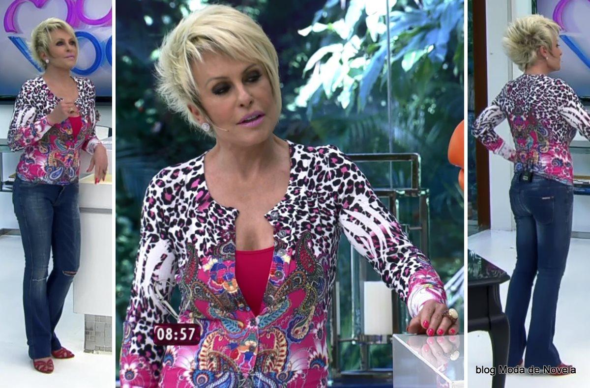 moda do programa Mais Você - look da Ana Maria Braga dia 30 de julho