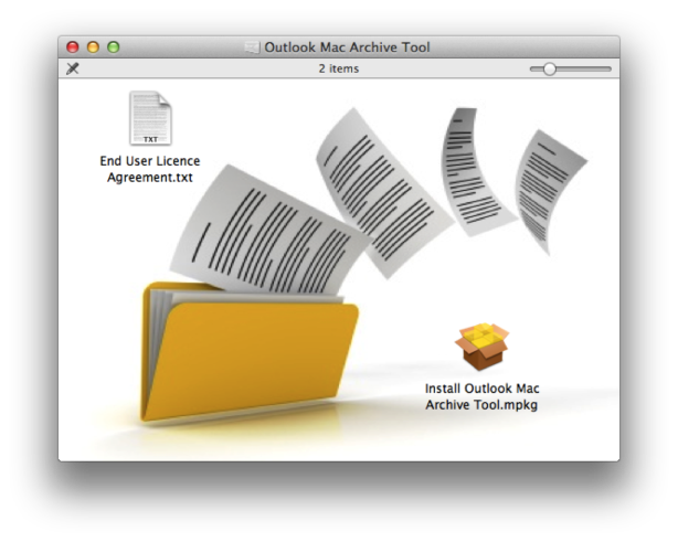 Creates archive of Outlook mail & calendar with Outlook Mac Archive Tool