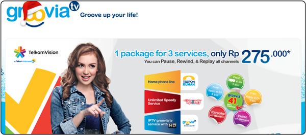 Groovia.tv - Layanan IPTV dari Telkom