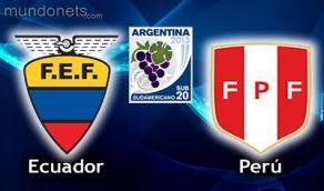 Peru Ecuador vivo online SUb20 Horarios 16Enero