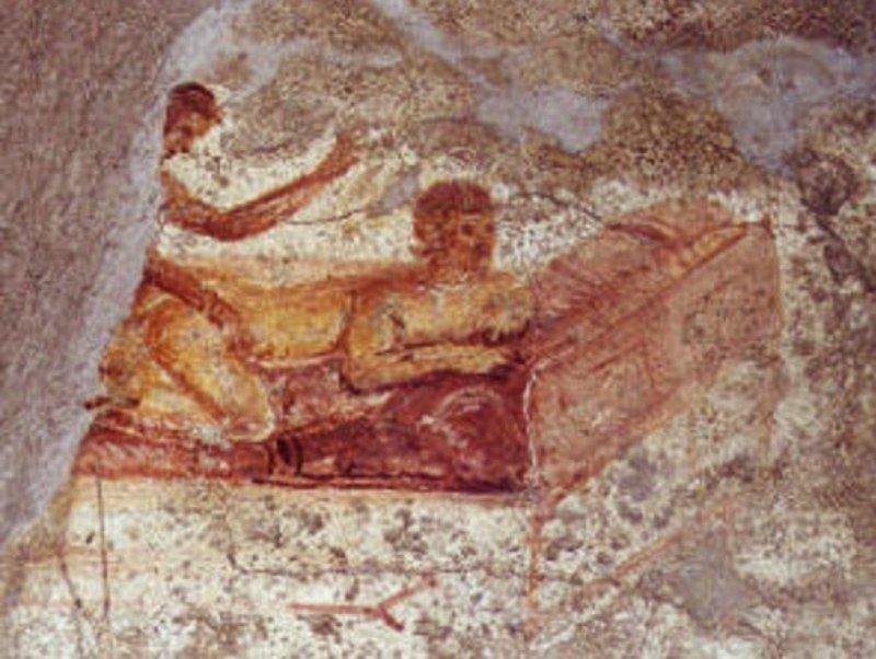 Advanced perreo in a Pompeii brothel.