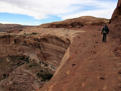 At the rim of Horseshoe Canyon