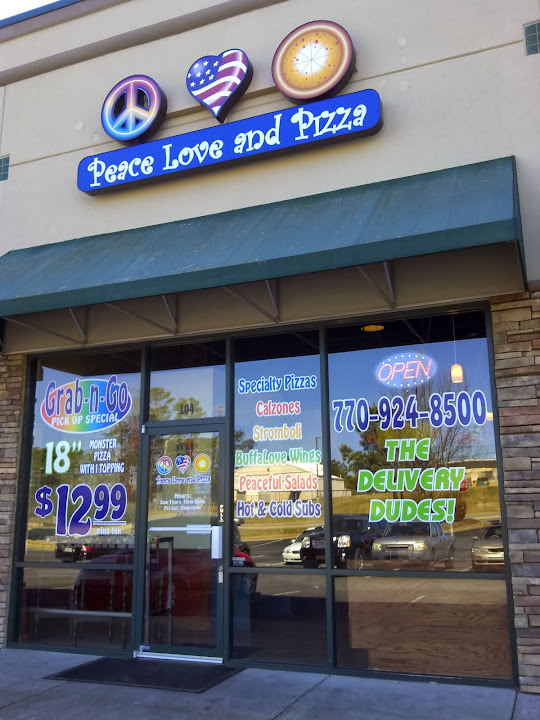 pizza place Woodstock GA | Peace Love and Pizza at 2990 Eagle Dr, 104, Woodstock, GA