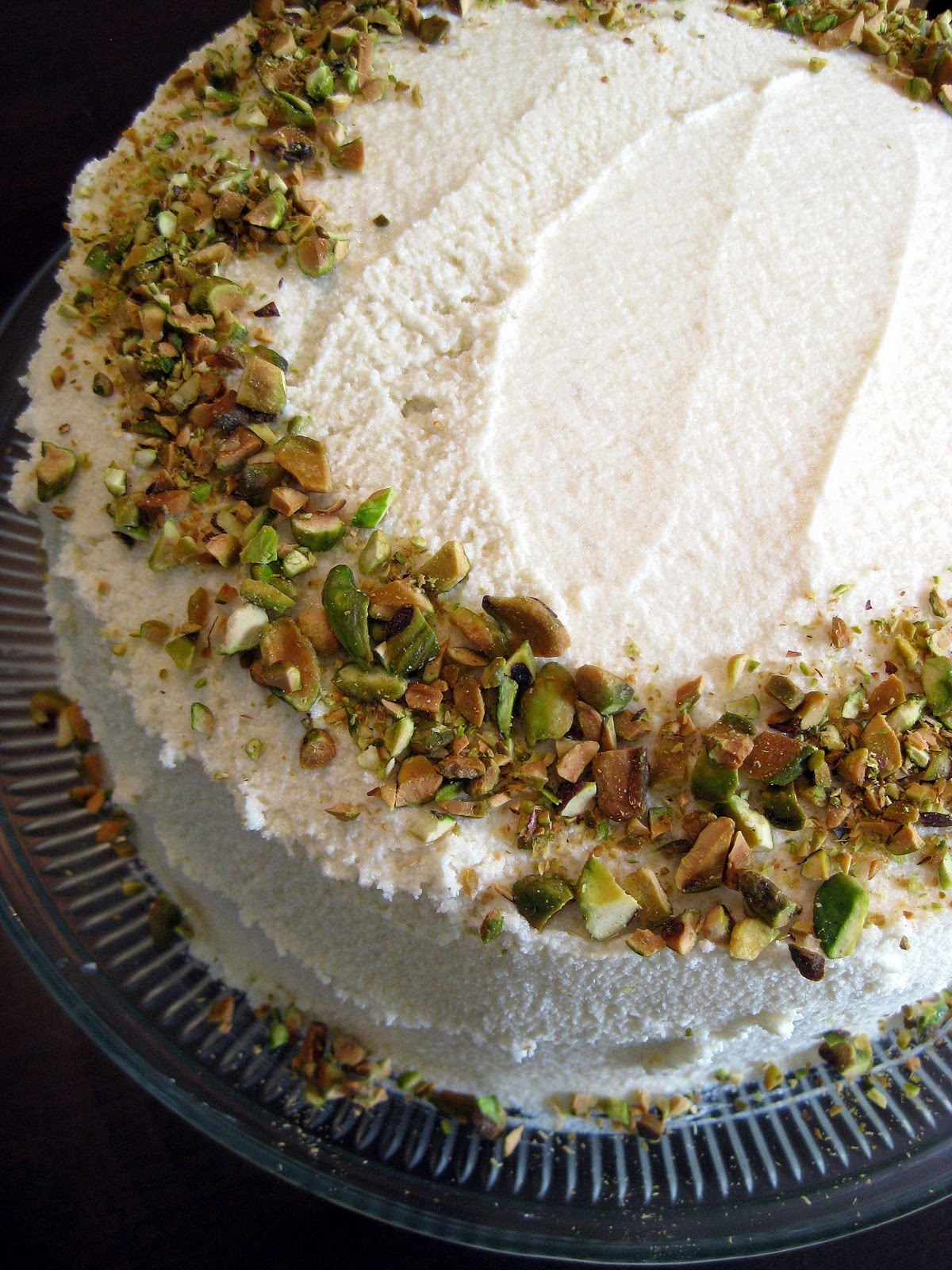 Pistachio Layer Cake With Honey Buttercream Frosting A Hint Of Honey