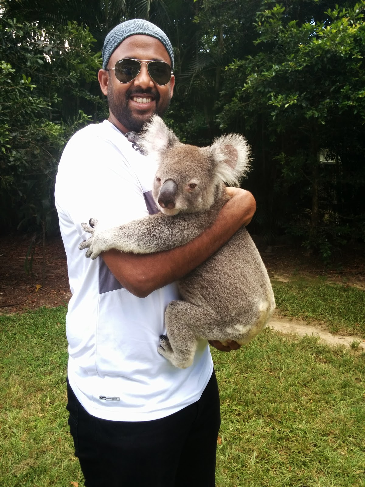 Cuddling a Koala at the Lone Pine Koala Sanctuary