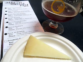 Portland Beer and Cheese Festival, beer and cheese pairing, The Commons Berwery, Steve's Cheese, Block 15 Brewing Visage de Palm, Biere de Garde, paired with four-month Manchego, raw sheep, Spain