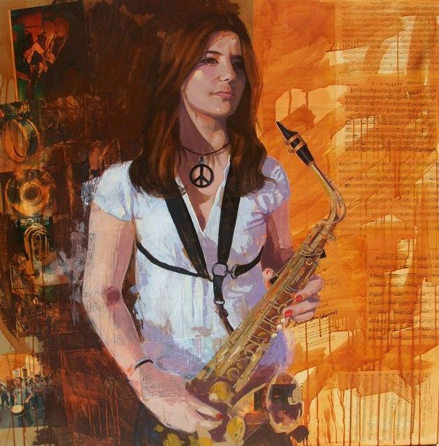 Buscando la inspiración,Collage de Jose Miguel Alguer Romero