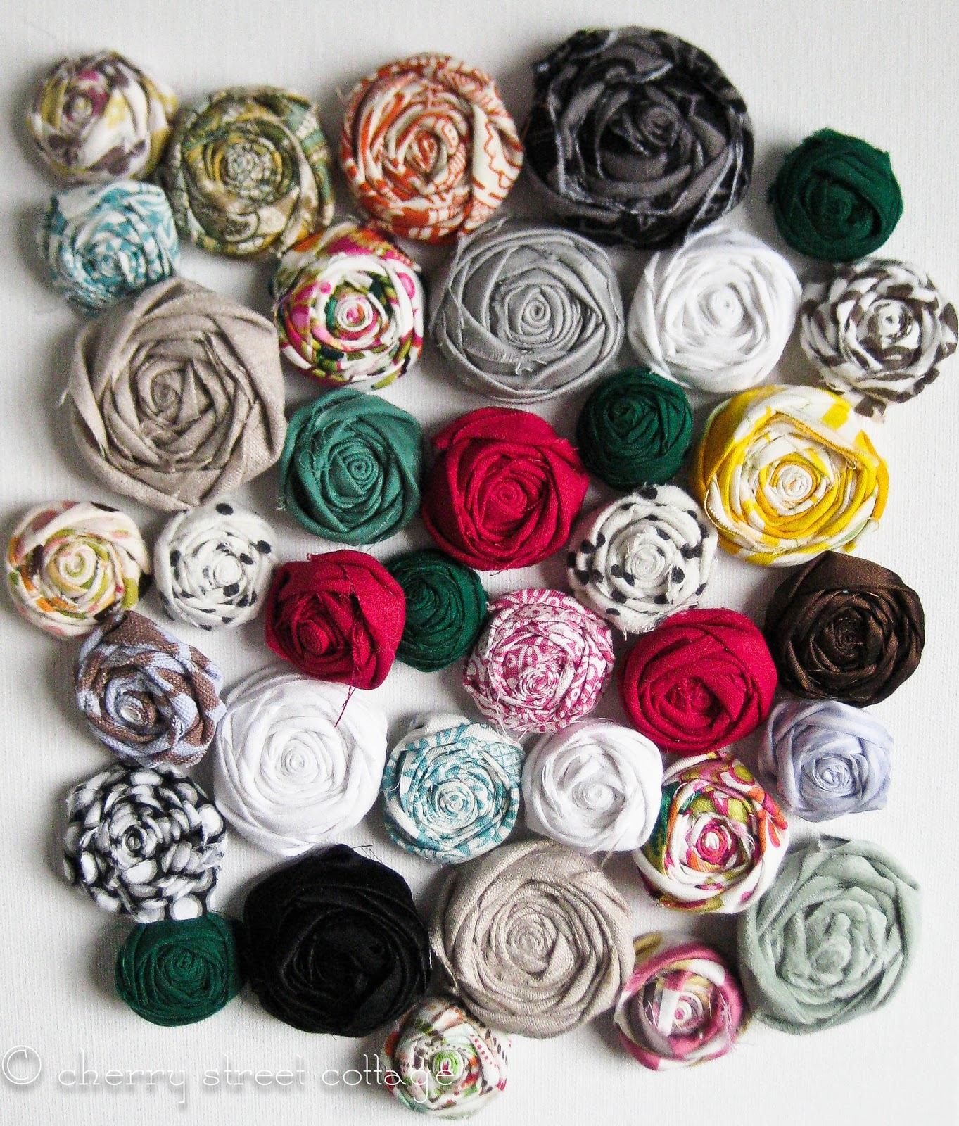 Little And Lovely Fabric Flower Tutorial At Last
