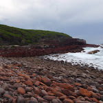 Spectacular rock at red platform bay (104911)