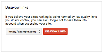 Google Webmaster Tools Disavow