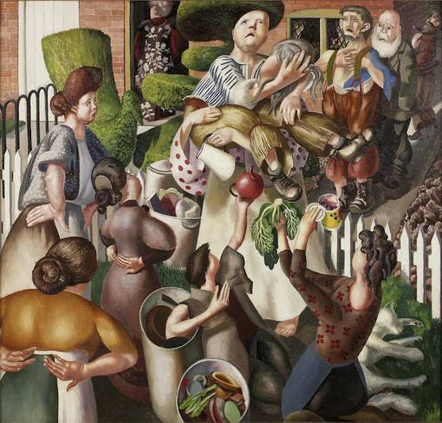 Stanley Spencer - The dustman (Lovers)1934