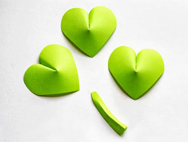 Corações verdes
