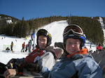 Eric and KD at the Beach area at the bottom of the Keystone back