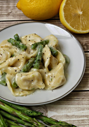 Tortellini with Asparagus in a Light Creamy Lemon Sauce Recipe #BackToBalance