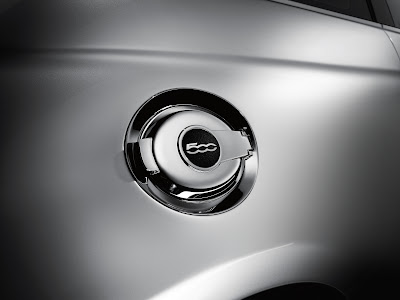 Fiat 500 Chrome Fuel Door