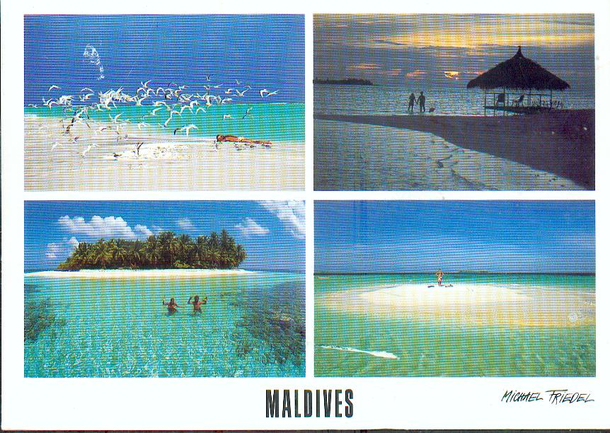Carte Asie Maldives.Tour Des Maldives En Cartes Postales Tour Du Monde En Cartes