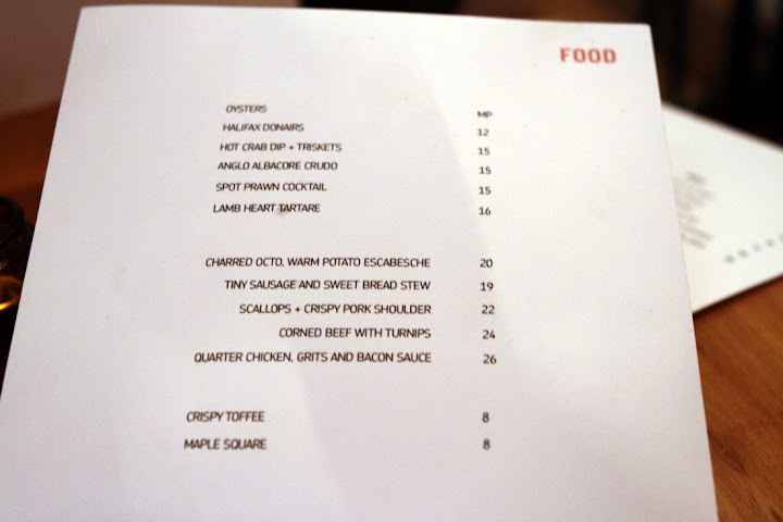 The Hopgoods Foodliner menu