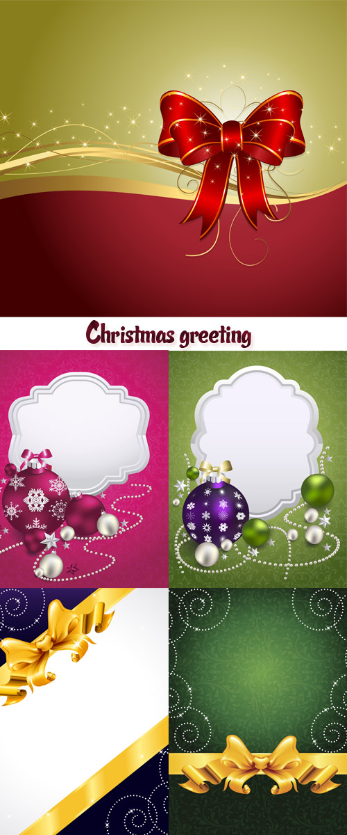 Christmas card, New Years congratulation