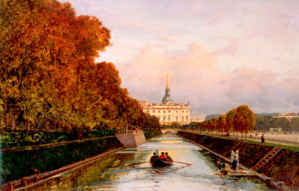Alexey Bogolybov - Michael's Castle from Lebiazhy Canal 1880s