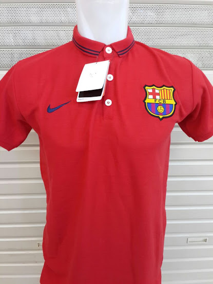 Jual Polo Barcelona Merah  2014-2015