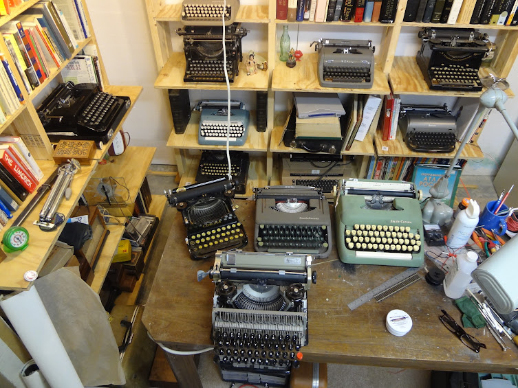 that's a lot of typewriters! Or is it?