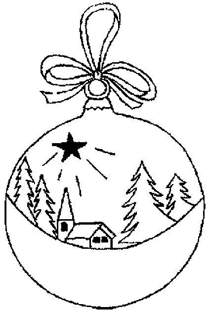 christmas balls coloring pages - photo#10