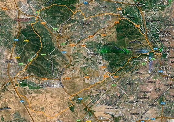 Ruta por la Casa de Campo, el Monte de Boadilla y el Monte del Pilar