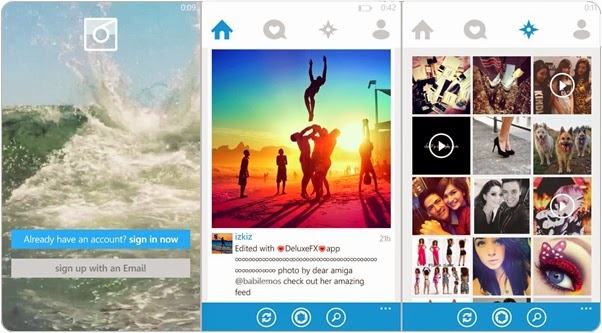 6tag, Aplikasi Instagram di Windows Phone