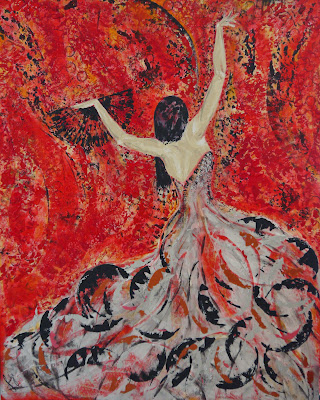 Passionate Flamenco Medium: Acrylic on Canvas  Size : 150 x 120cm