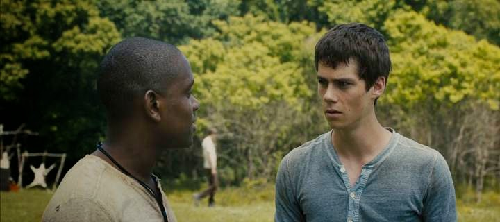 Screen Shot Of Hollywood Movie The Maze Runner (2014) Download And Watch Online Free at Alldownloads4u.Com