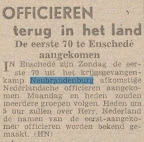 Officieren terug in Nederland.