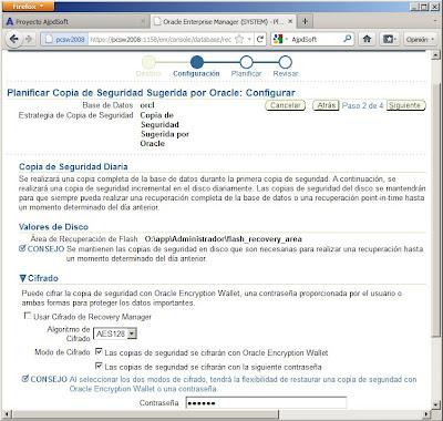 Copia de seguridad física en línea con RMAN en Oracle 11g con ARCHIVELOG activado